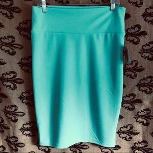 Lularoe Cassie Mint Green Pencil Skirt